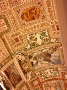 On our way to the Cappella Sistina, Sistine Chapel
