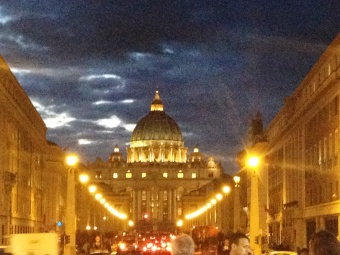 The Vatican by night