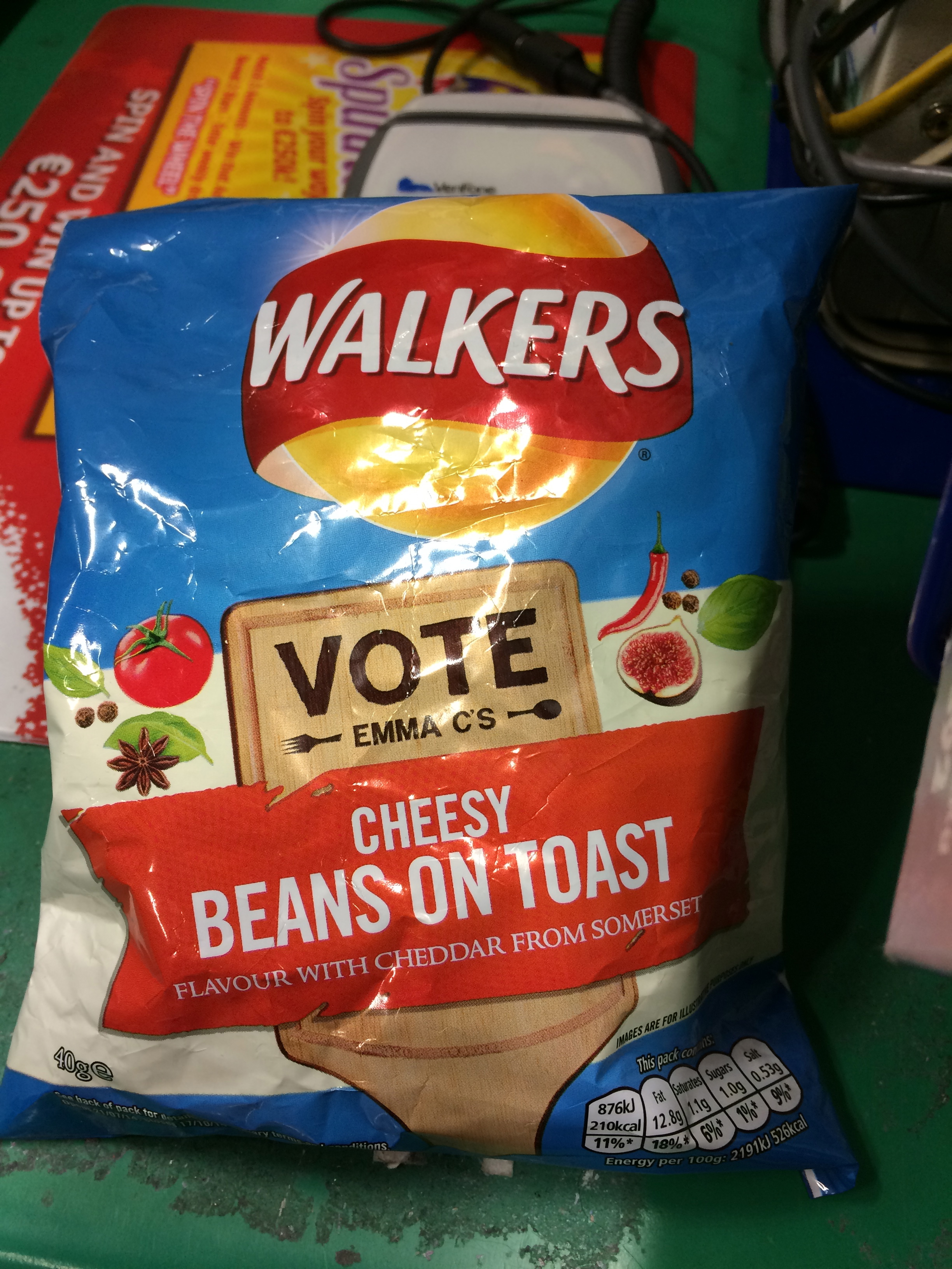 Beans on Toast Crisps cause you can never have enough Beans on Toast